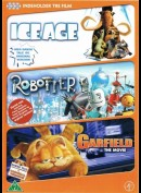 Ice Age + Robotter + Garfield: The Movie  -  3 disc