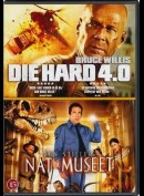 Die Hard 4.0 + Nat På Museet  -  2 disc